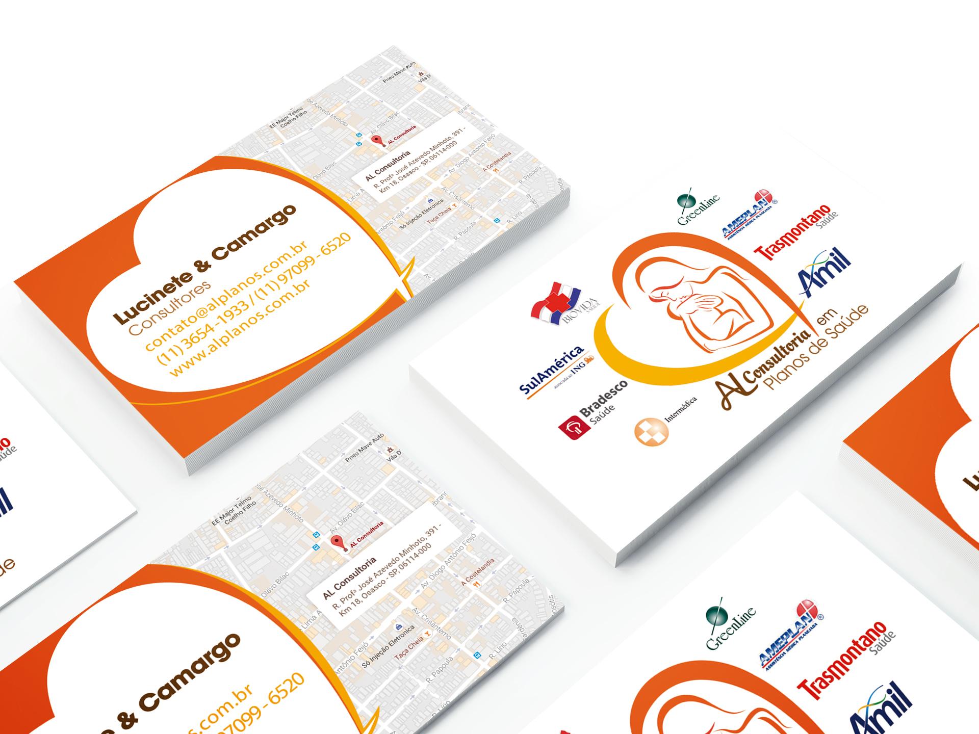 Cartão de Visita AL Consultoria em Planos de Saúde