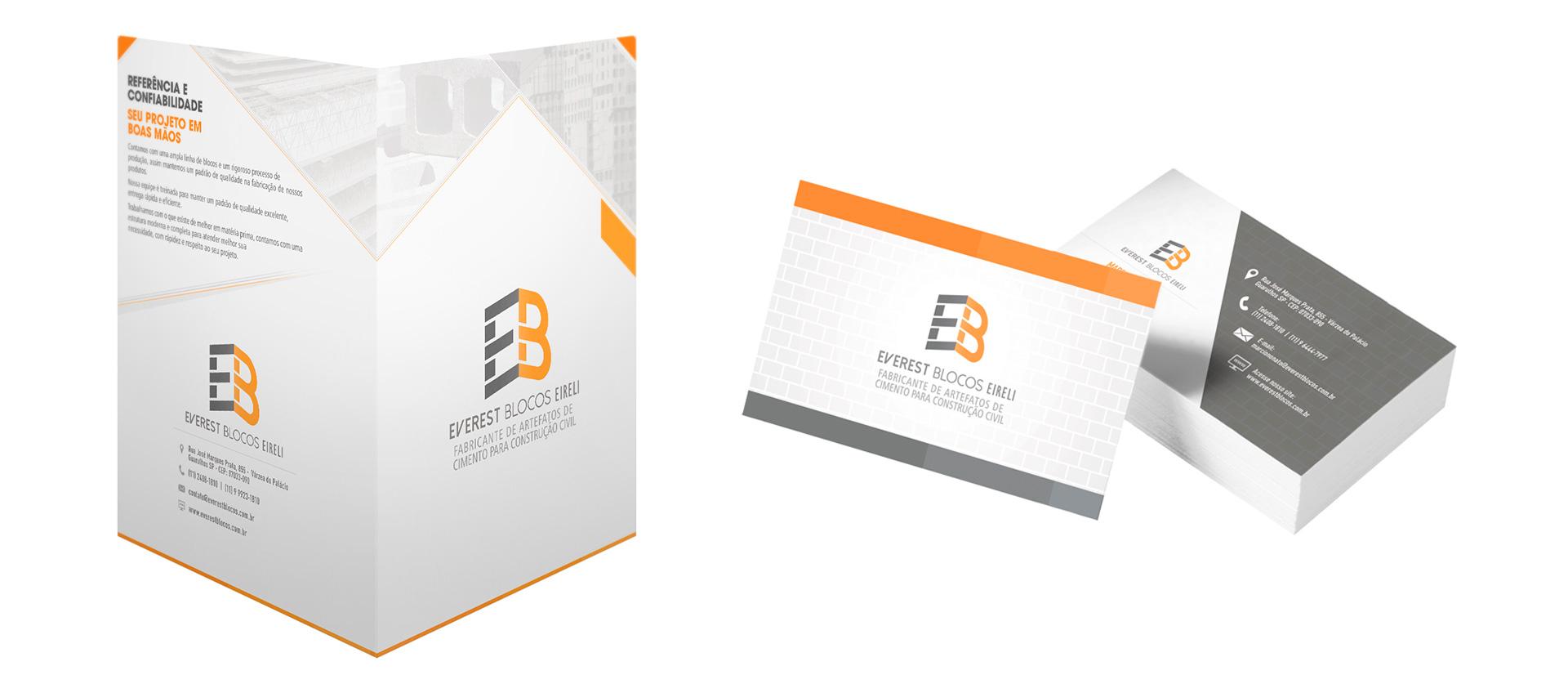 Pasta Corporativa e Cartões de Visita Everest Blocos Eireli